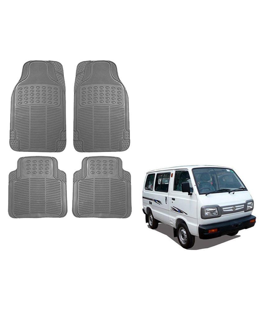 Auto Addict Car Simple Rubber Grey Mats Set of 4Pcs For Maruti Suzuki Omni