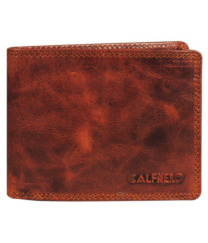 Calfnero Leather Khaki Casual Anti-theft Wallet