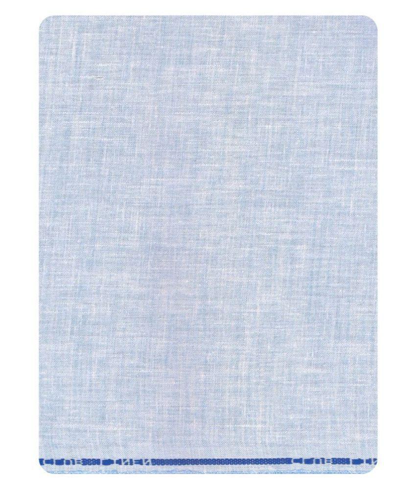 John Phillipe Blue Linen Unstitched Shirt pc