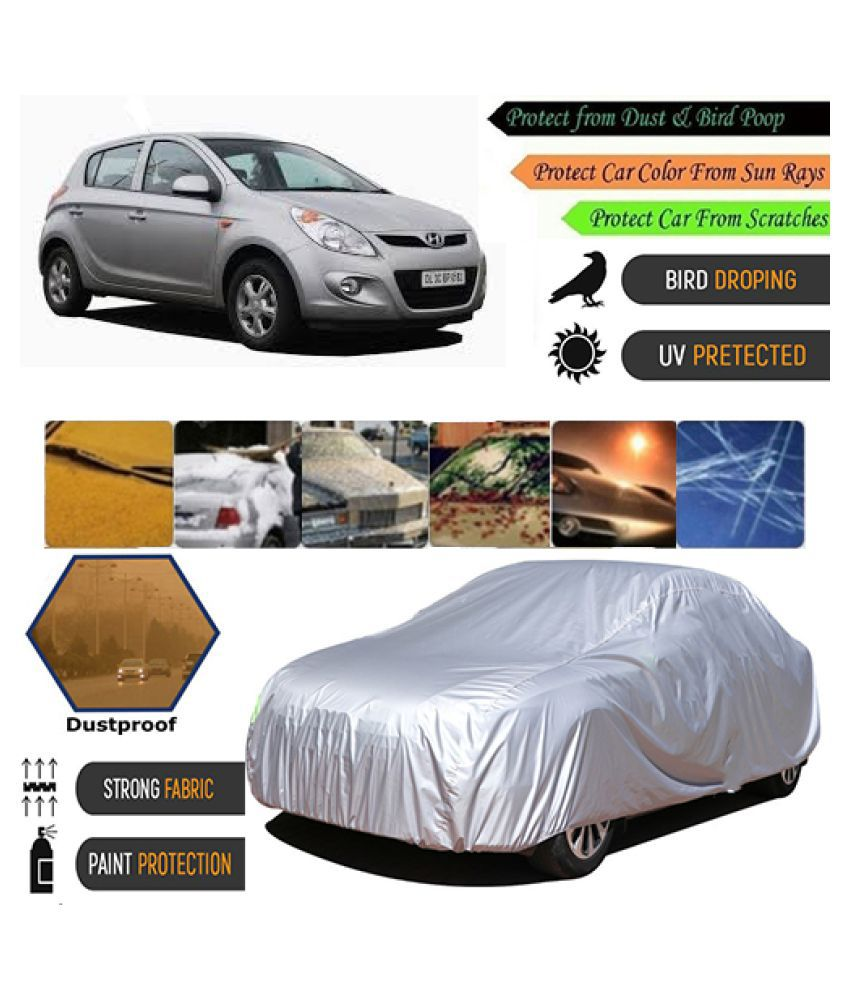 COVER POINT Car Body Cover for Hyundai i20 [2010-2012] (Silver)