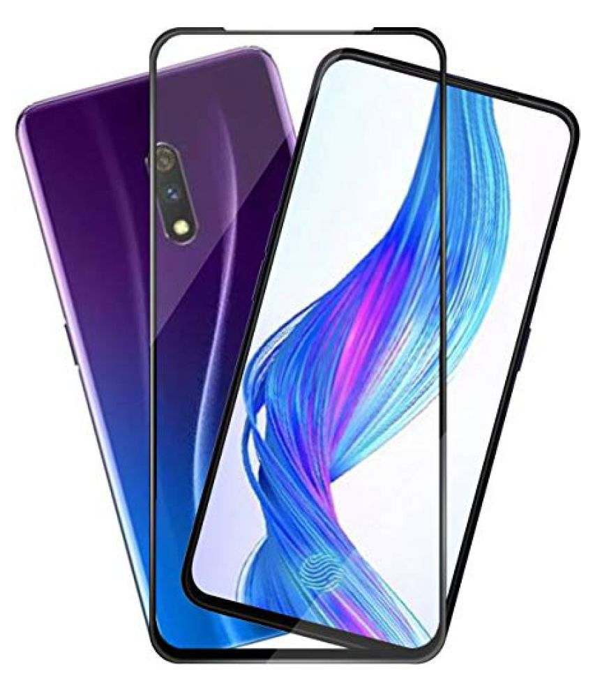 Realme X Tempered Glass Screen Guard By GLAZE UV Protection, Anti Reflection.