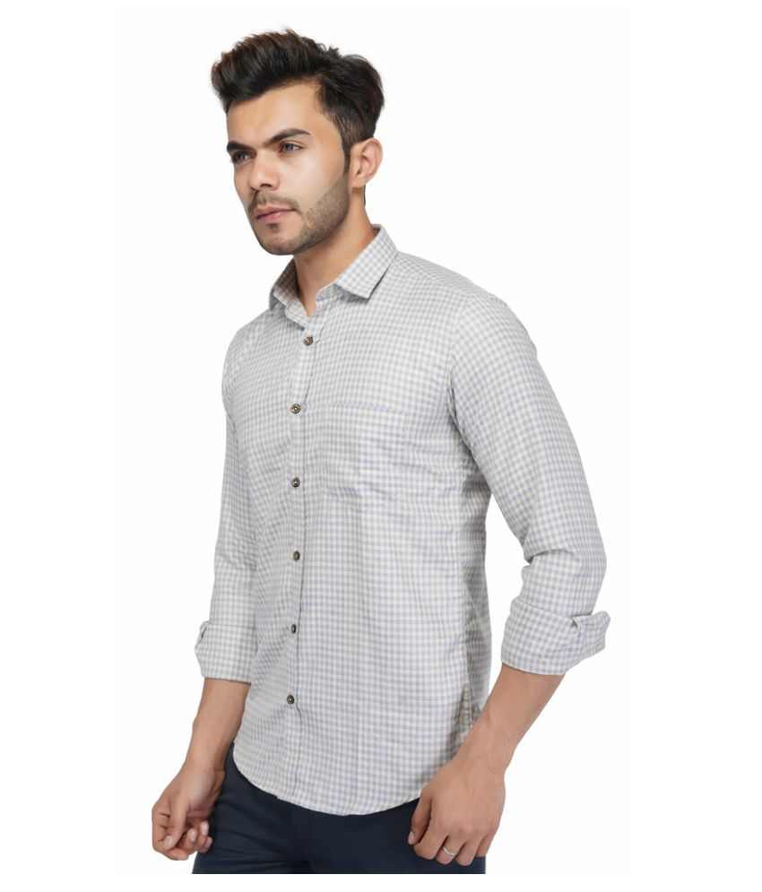 AllenCPR 100 Percent Cotton Blue Checks Shirt