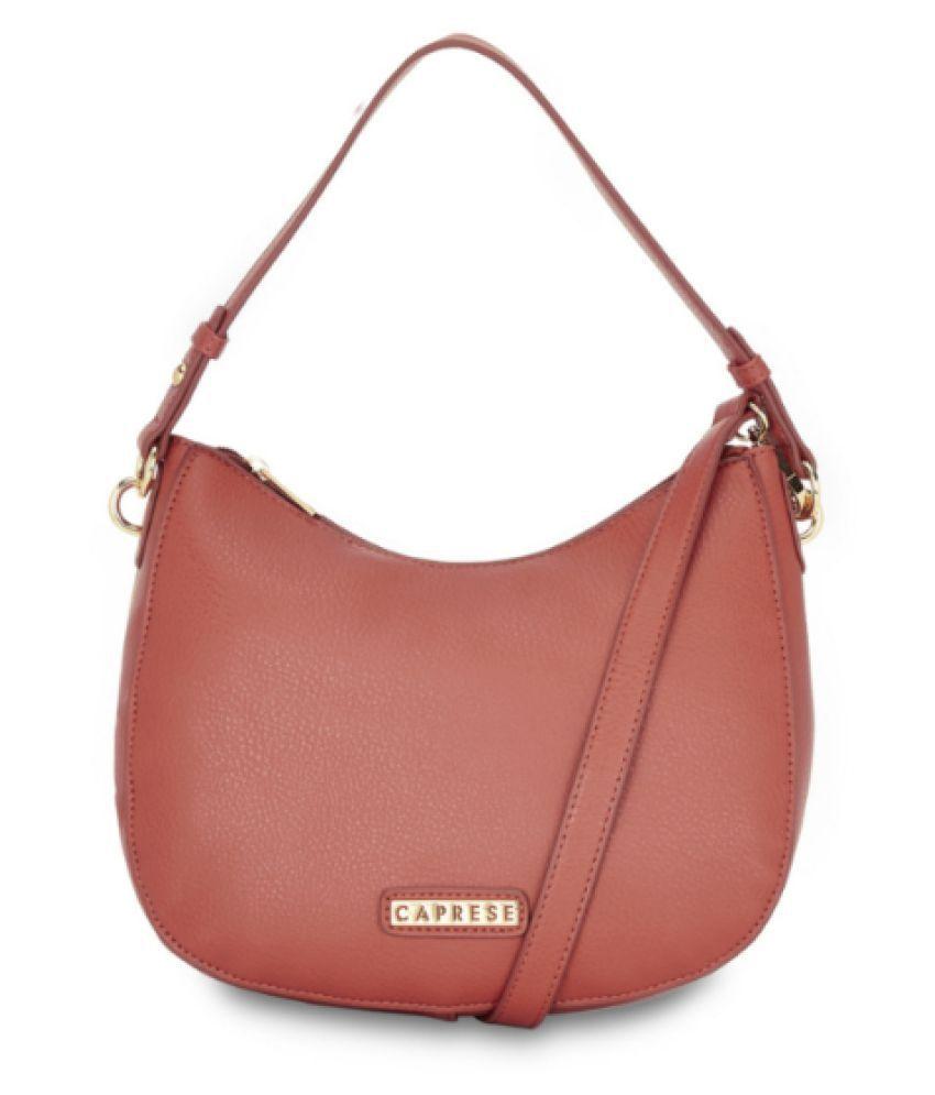 Caprese Purple Faux Leather Satchel Bag