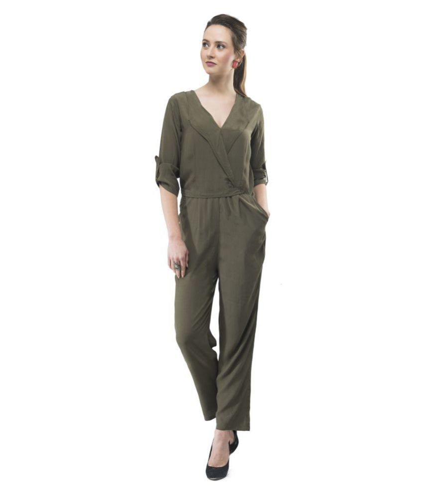 V&M Green Viscose Jumpsuit