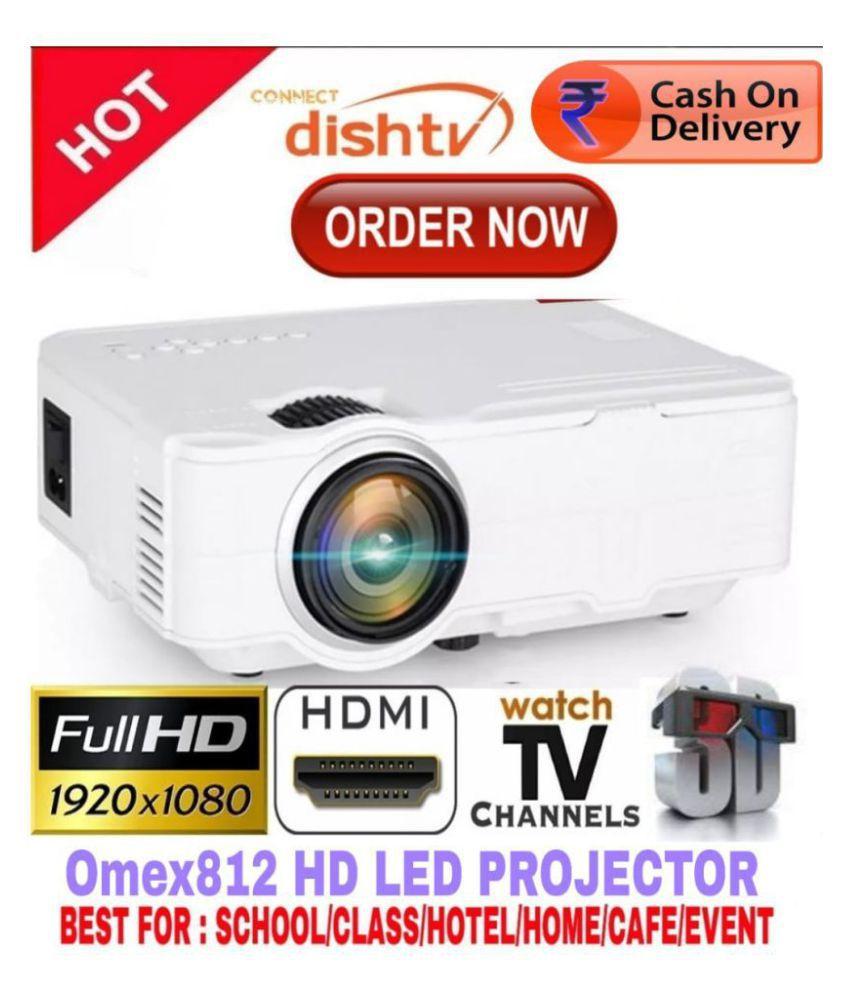 Omex 812 3D HD 1080P LED Projector 800x600 Pixels (SVGA)
