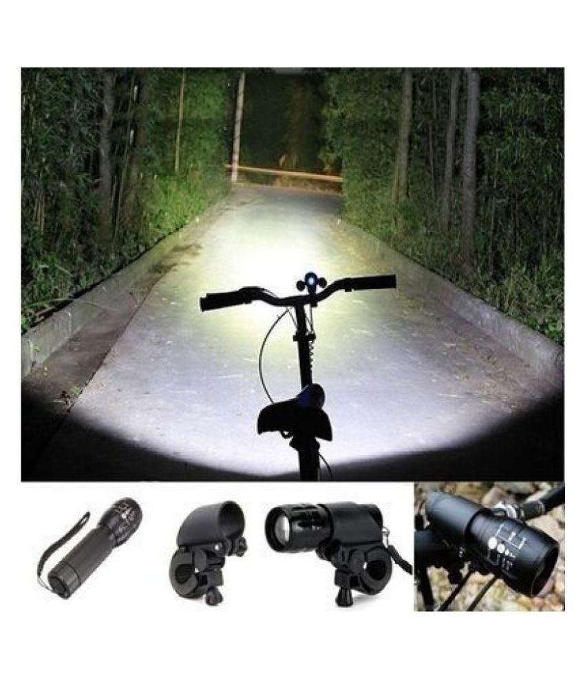 6 LED Cycling Bike Bicycle Head Front Flash Light Torch Lamp with Clamp Mount