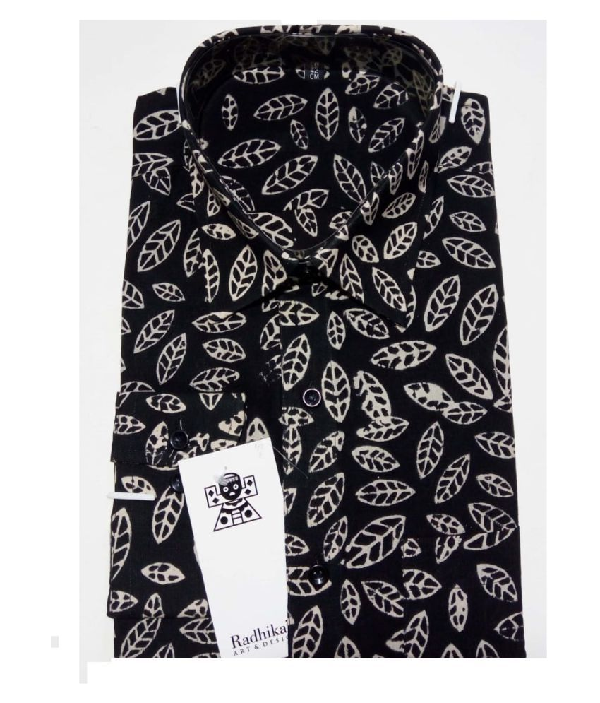 Radhika's 100 Percent Cotton Black Prints Shirt