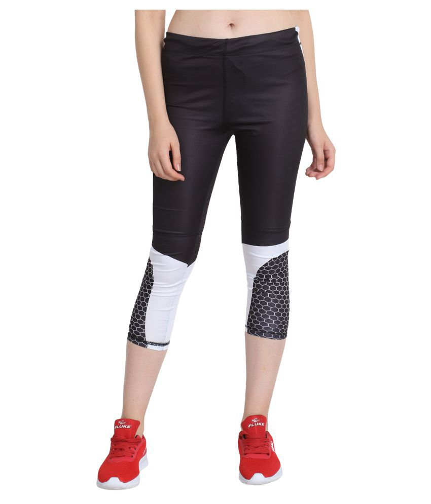guti Multi Color Polyester Lycra Graphic Tights