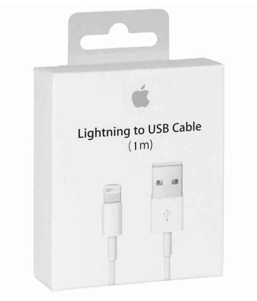apple original Lightning Cable White   1 Meter