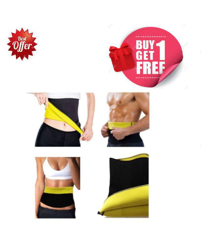 YUVAAN TRADERS Buy 1 Get 1 Free Size_XL Hot Shaper Belt Waist Trimmer Belt For Unisex