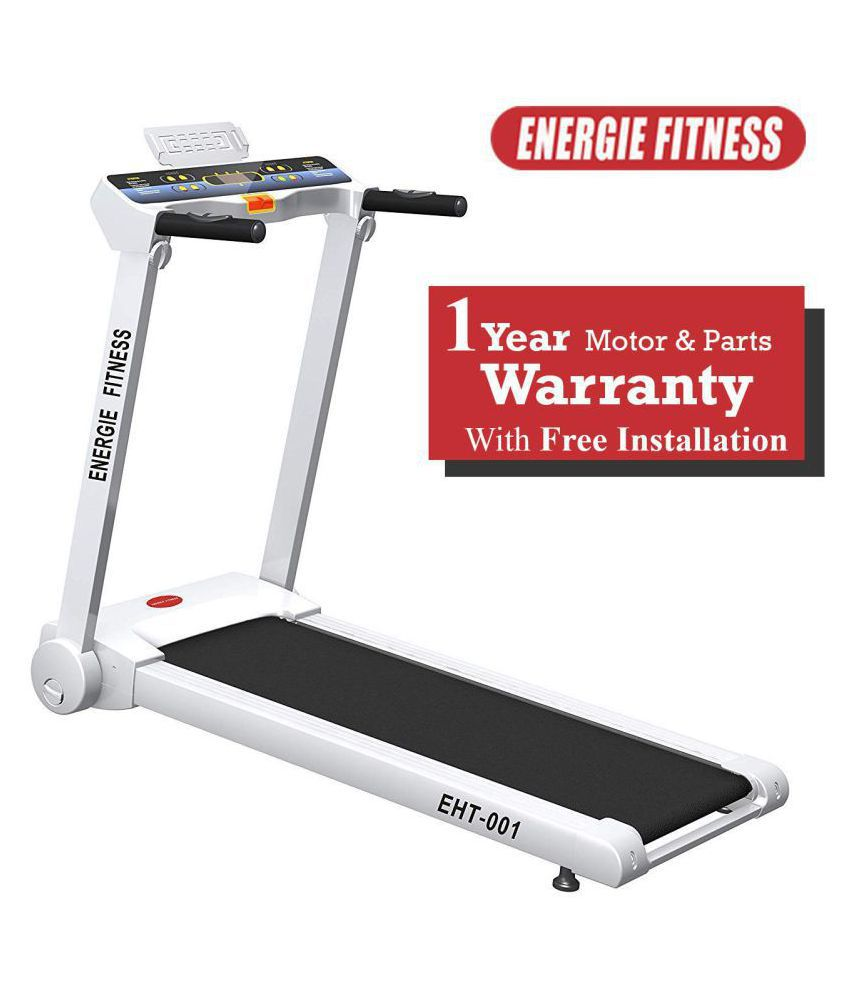 Energie Fitness EHT 001 Home use 1 25 HP (2 50 HP at Peak) Motorized  Treadmill with with 1 LCD Monitor, 1 Year Warranty Exercise equipment /  Exercise