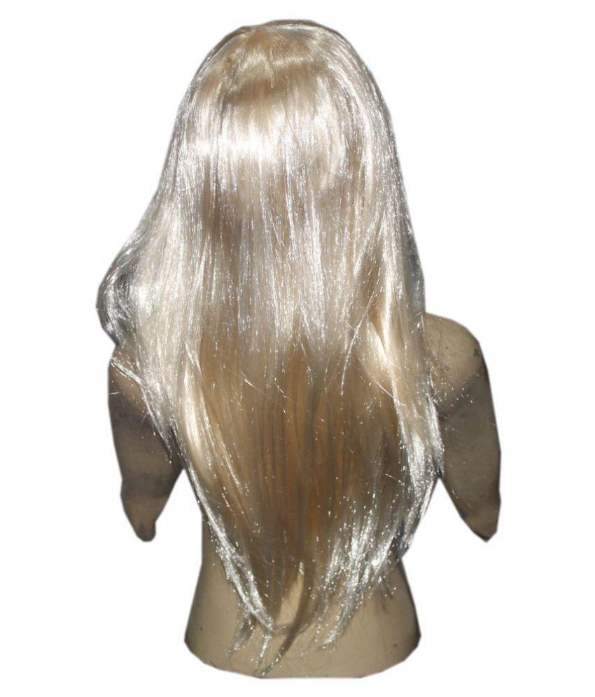 Kaku Fancy Dresses Girl Straight Styler Skin Color Hair Wig -Skin, Free Size, for Girls