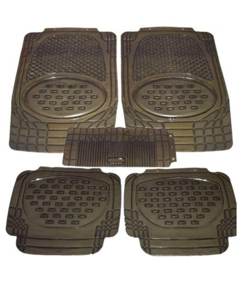 Car Rubber Floor Mat Black Transparent Set of 5 Pcs for Volkswagen Virtus
