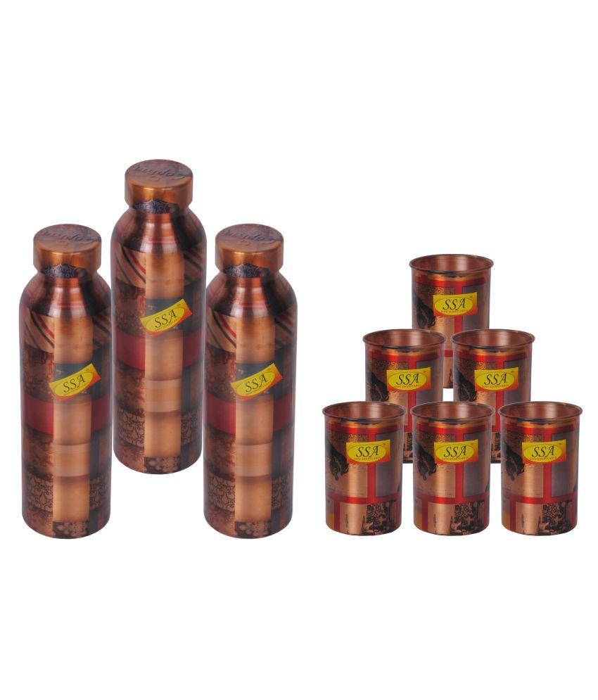 Shiv Shakti Arts Designer Drink Set 9 Pcs Juice Set