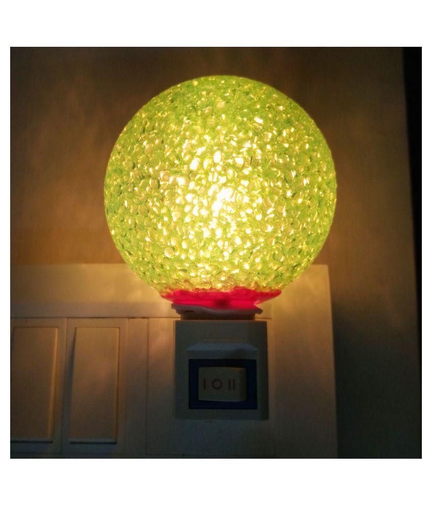 Peepalcomm Crystal Ball Wall Light Home Decoration Light Night Lamp Green - Pack of 1