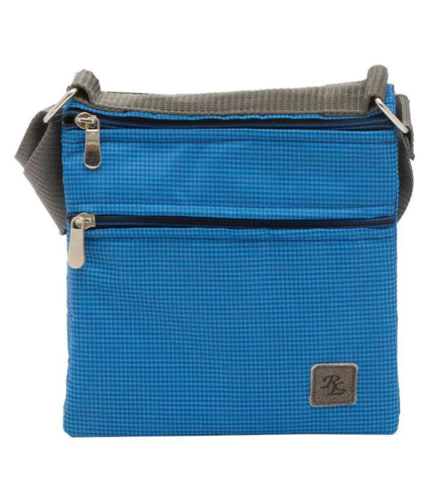 WalletsNBags Blue Polyester Casual Messenger Bag