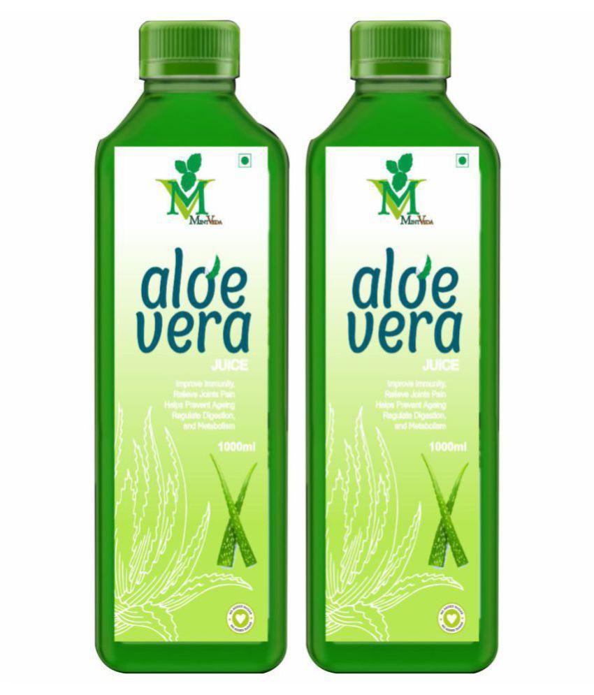 Mint Veda Aloevera Juice Health Drink 1 l Pack of 2