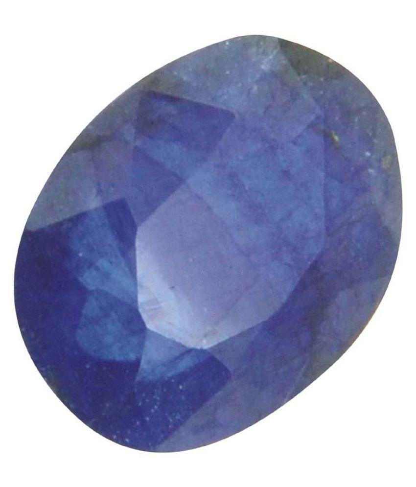 Tejvij And Sons 3.5 -Ratti Self certified Blue Sapphire Precious Gemstone