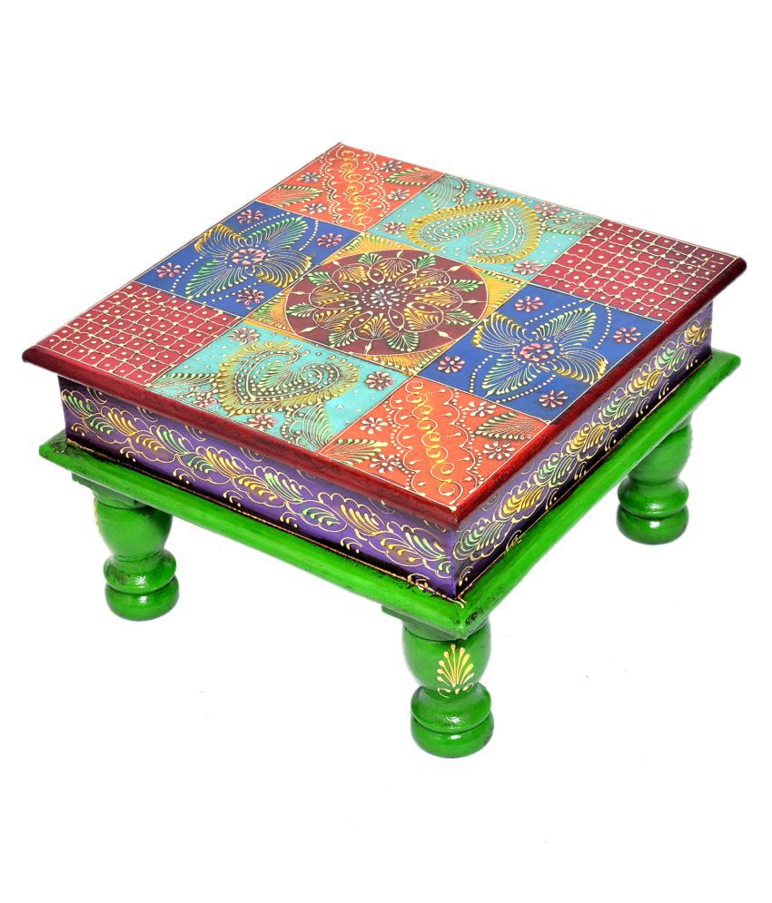Wooden Colored Bajot Chowki 10