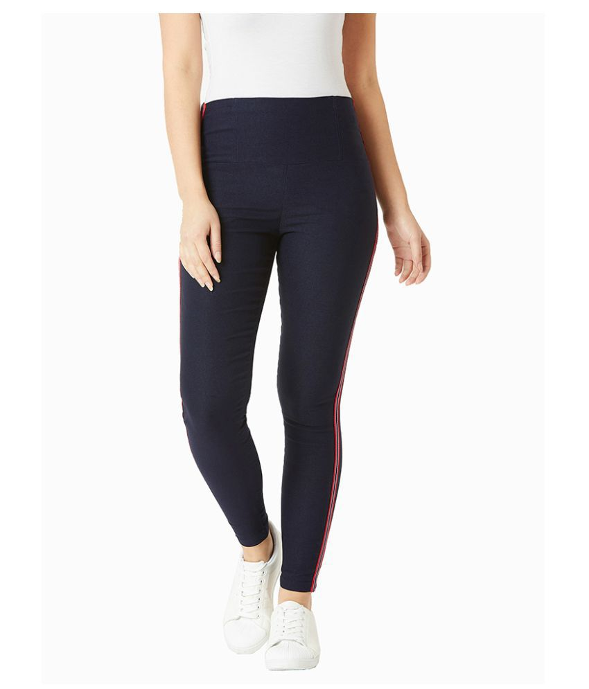 Miss Chase Polyester Jeggings - Navy