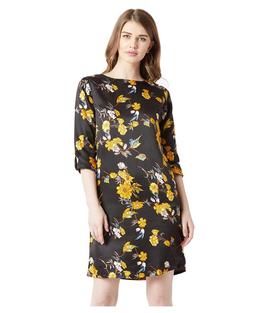 Miss Chase Polyester Multi Color Shift Dress