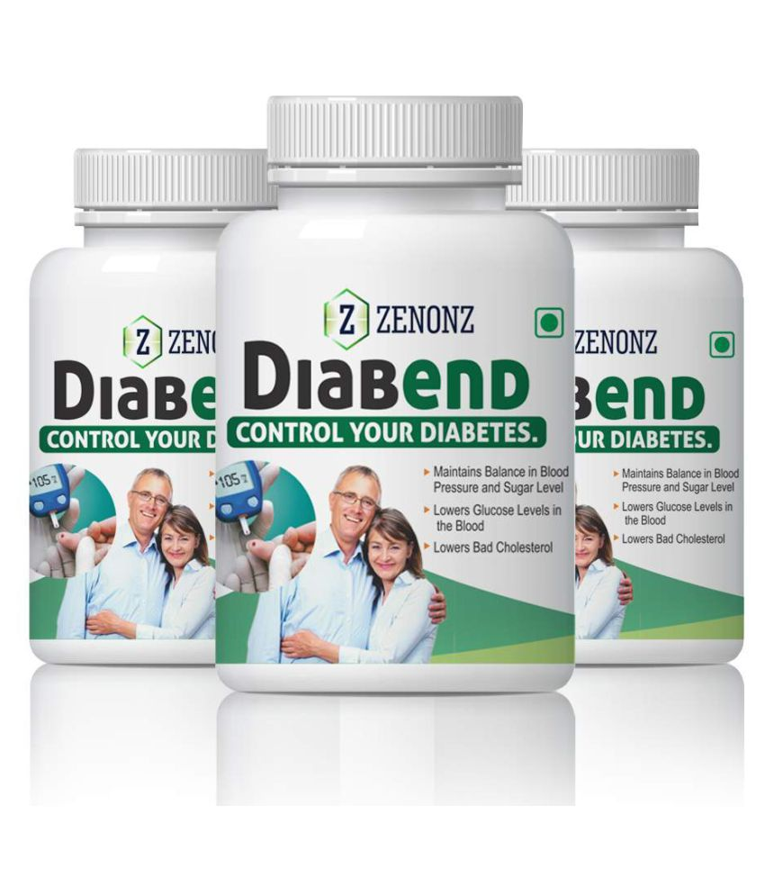 zenonz Diabend Control Your Blood & Sugar Level Capsule 500 mg Pack of 3