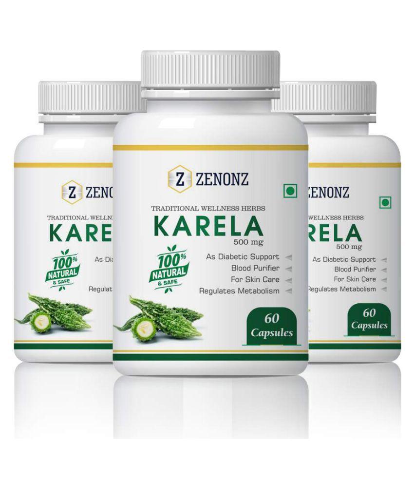 zenonz Natural , Pure & Organic Diabetes Capsule 500 mg Pack of 3