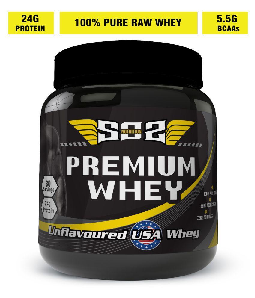 SOS Nutrition Premium Raw Whey (24g Protein) 2 lb