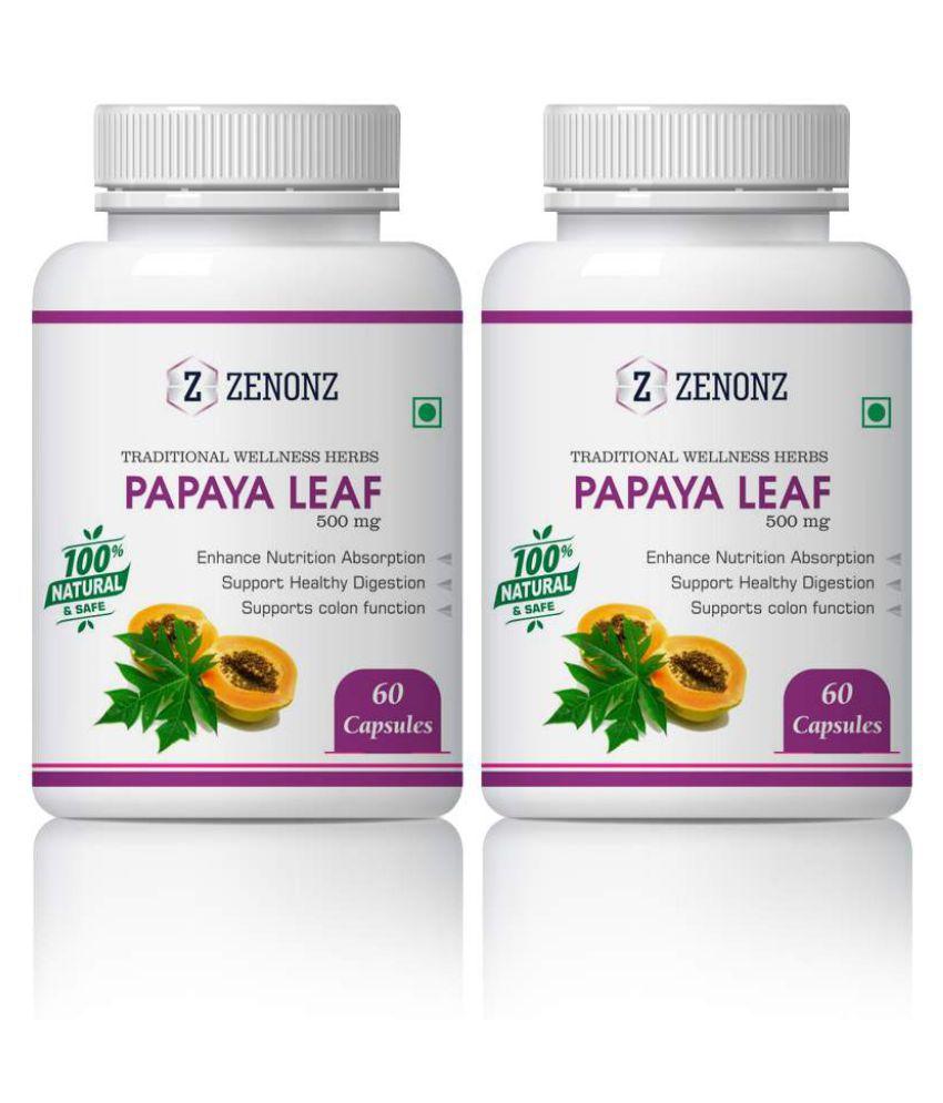 zenonz Papaya Best Platelet&Reduce Dengue Fever Capsule 500 mg Pack Of 2