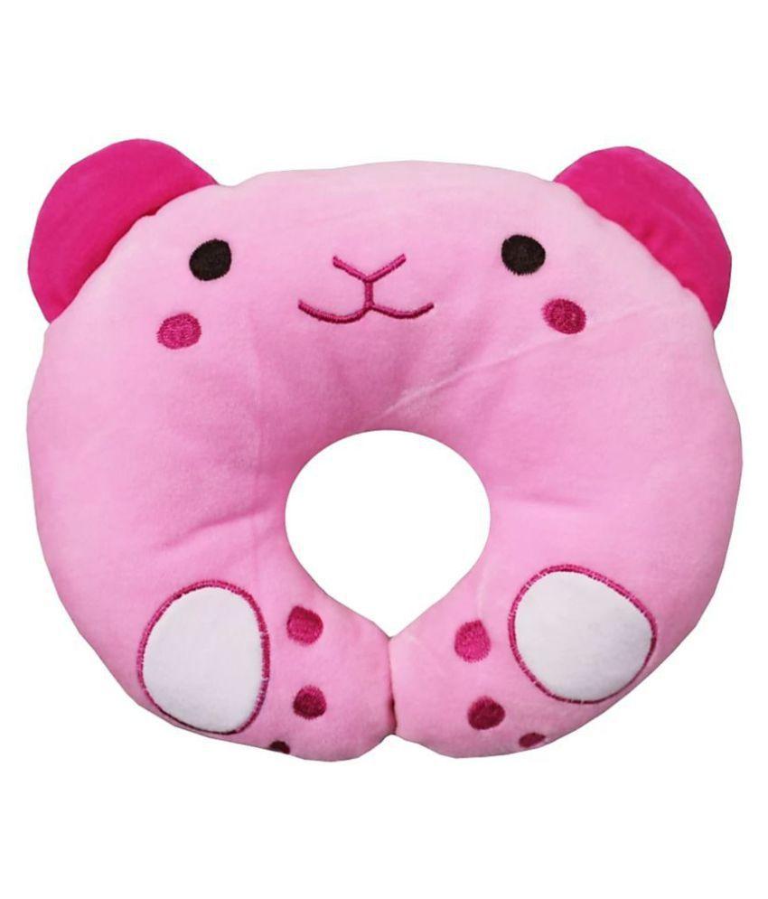 Brandonn Pink Polyester Fibre U shape Baby Pillow