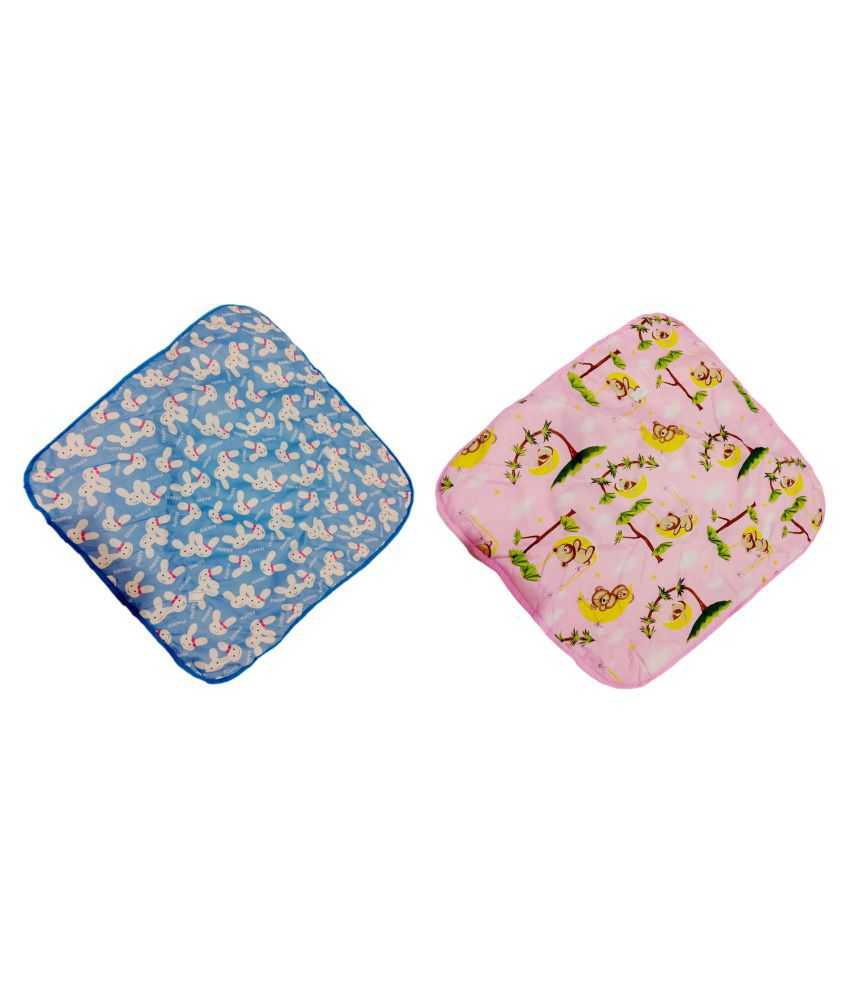fun baby Pink Poly Cotton Baby Wrap cum blanket ( 76 cm × 76 cm - 2 pcs)