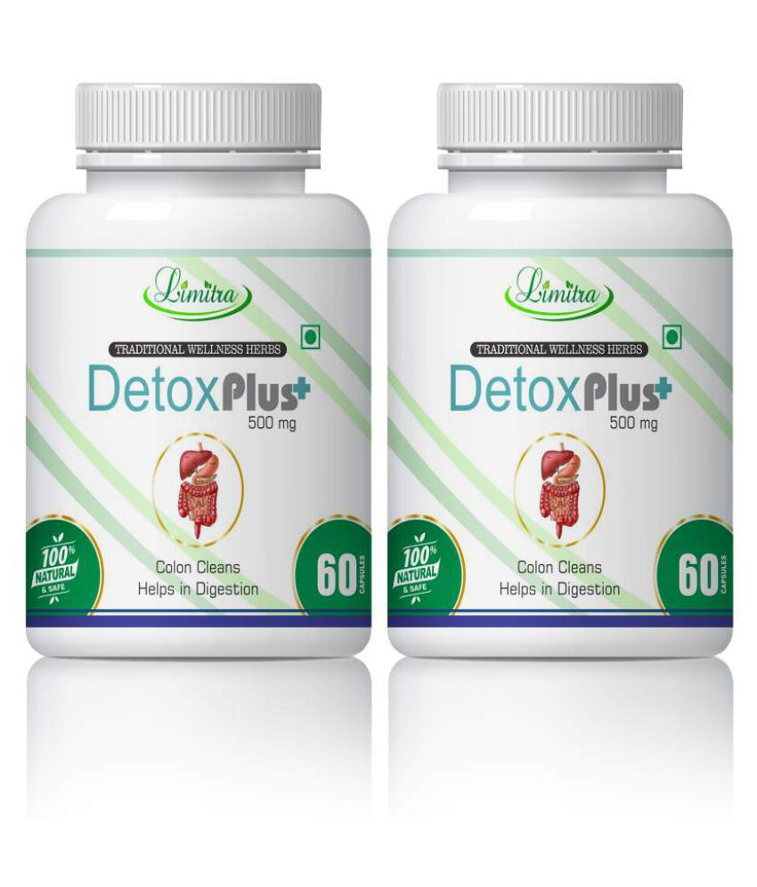 limitra Detox Helps In Colon Clean & Digestion Capsule 500 mg Pack Of 2