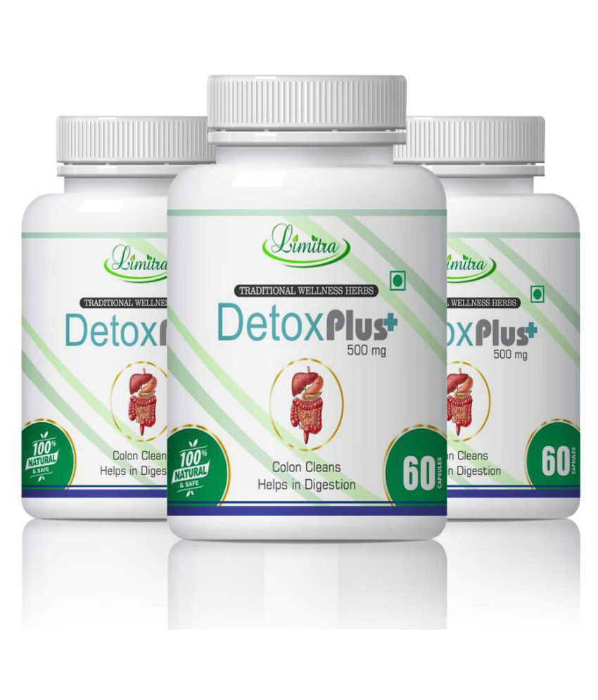 limitra Detox Liver Cleanser & Best Digestion Capsule 500 mg Pack of 3