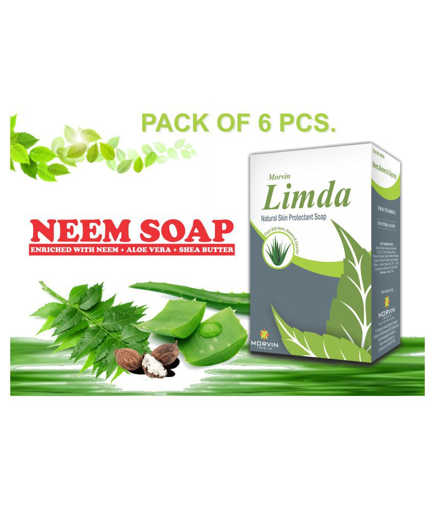 MORVIN INDIA Limda  Neem  Soap 75 g Pack of 6