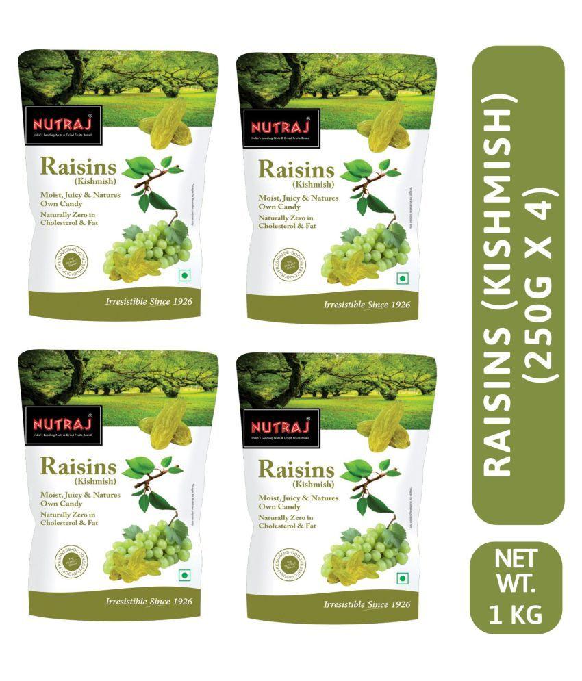 Nutraj Special Raisins (Round) 1 Kg (4 X 250g Each)
