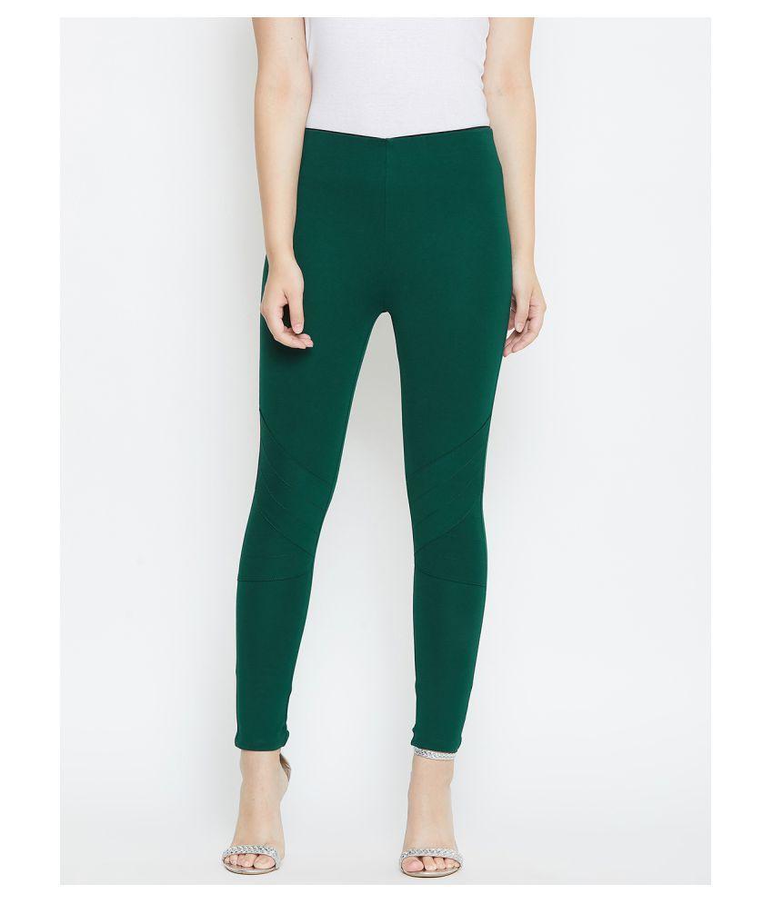 TRIYAA RAS Cotton Lycra Jeggings - Green