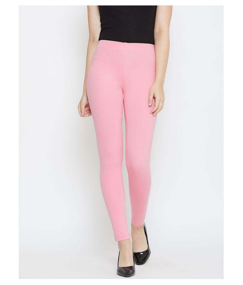 TRIYAA RAS Cotton Lycra Jeggings - Pink