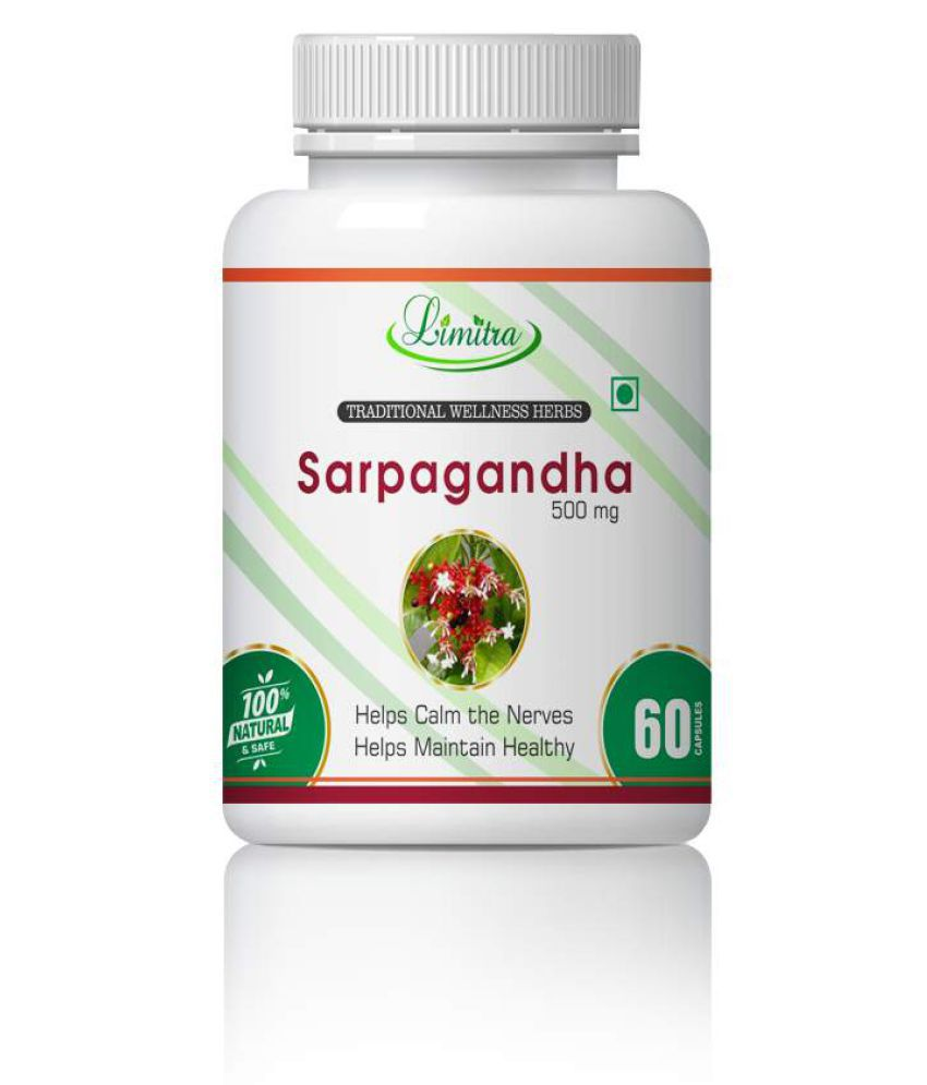limitra Sarpagandha Help B.P & Mental Alertness Capsule 500 mg Pack Of 1
