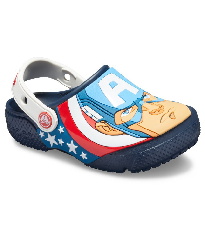 Crocs FunLab Captain America Blue Boys Clog