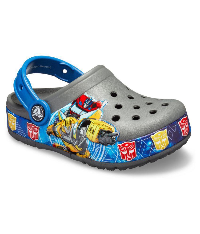 Crocs FunLab Transformers Band Light Grey Boys Clog