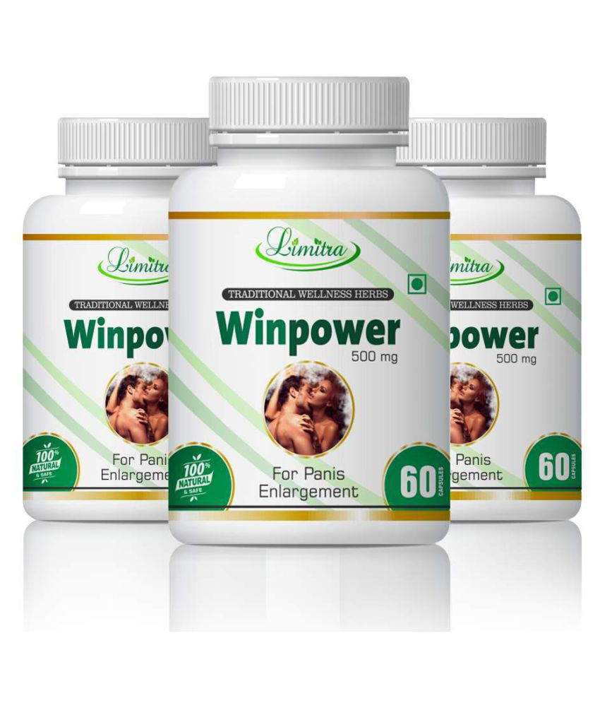 limitra Winpower Herbal Long Time Sex For Men Capsule 500 mg Pack of 3