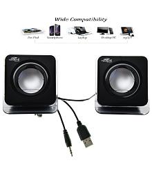 Terabyte E-02B 2.0 Multimedia Speakers for Laptop, PC, MP3/MP4 - Black