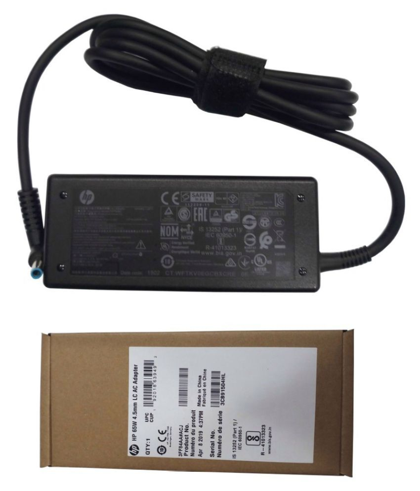 Original Genuine HP Laptop adapter compatible For HP 14-AC020TX 4.5MM X 3.0MM Blue-Tip Power Supply 65W Charger
