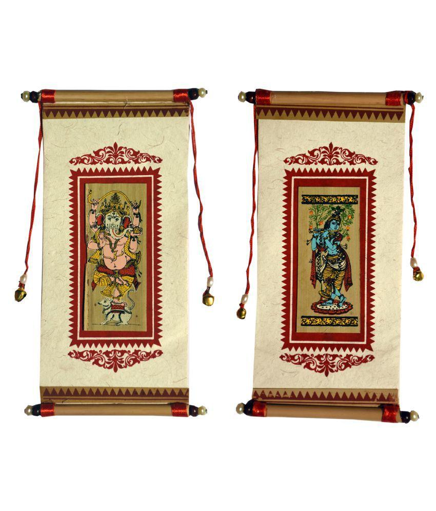 Village Kraft Handmade Paper, Palm Leaf and Cane Stick White Gift Envelope, Party Festivals, Gifts, Shagun, Cash, Diwali, Wedding, Marriage, Envelope (17.78 x 8.89cm) (Pack of 20)