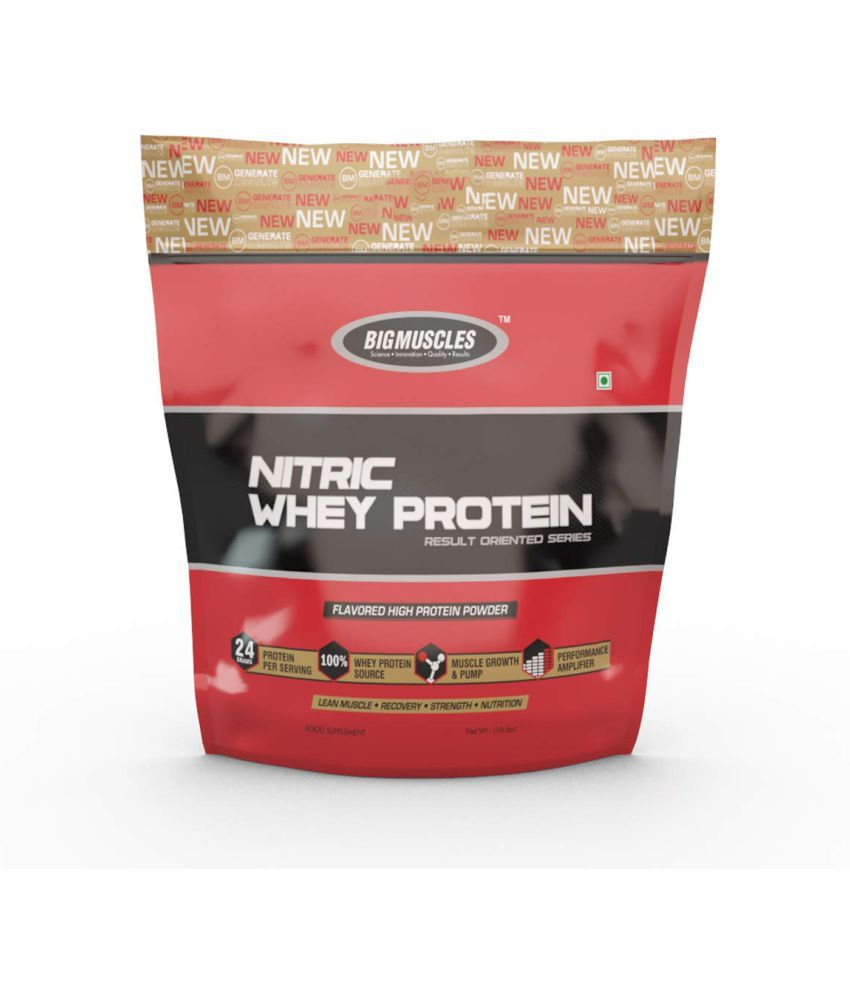 BIGMUSCLES NUTRITION Nitric Whey Protein Rich Chocolate 4500 gm