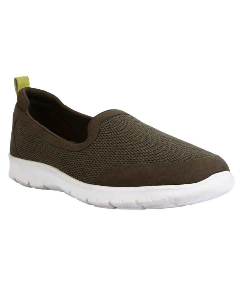 Clarks Khaki Casual Shoes