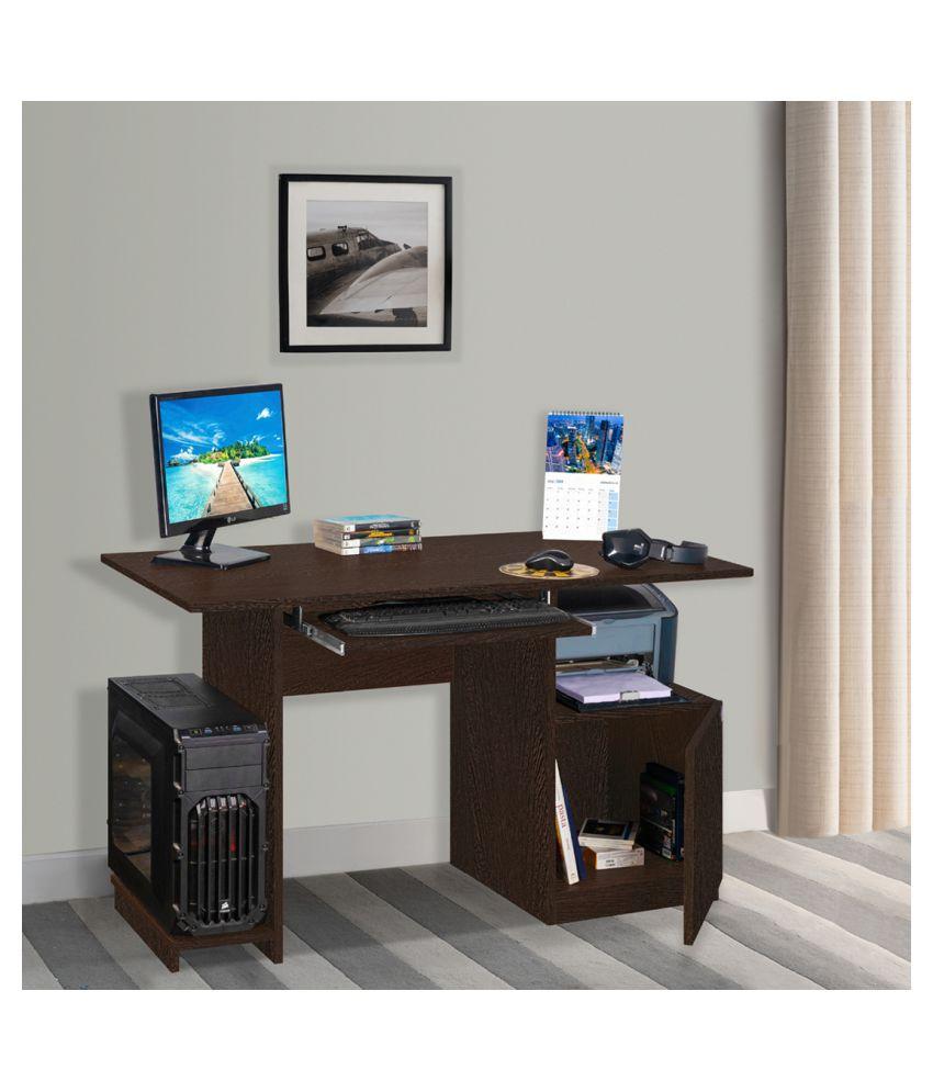 Delite Kom Wing Computer Table Engineered Wood in Wenge Color