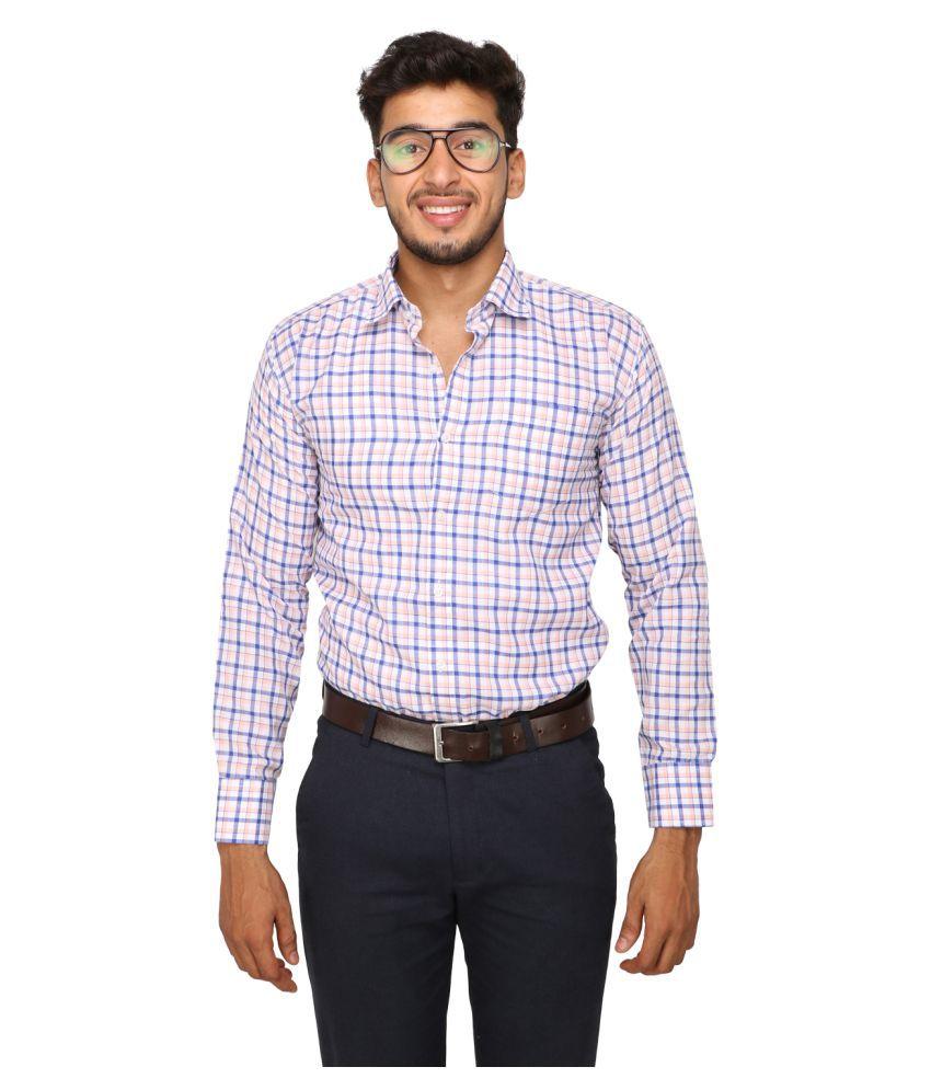 Koxko 100 Percent Cotton Blue Checks Shirt