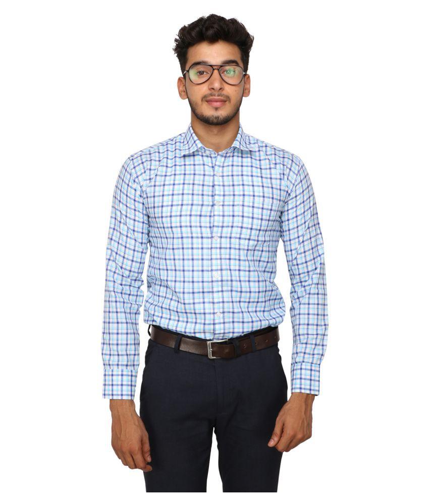 Koxko 100 Percent Cotton Green Checks Shirt
