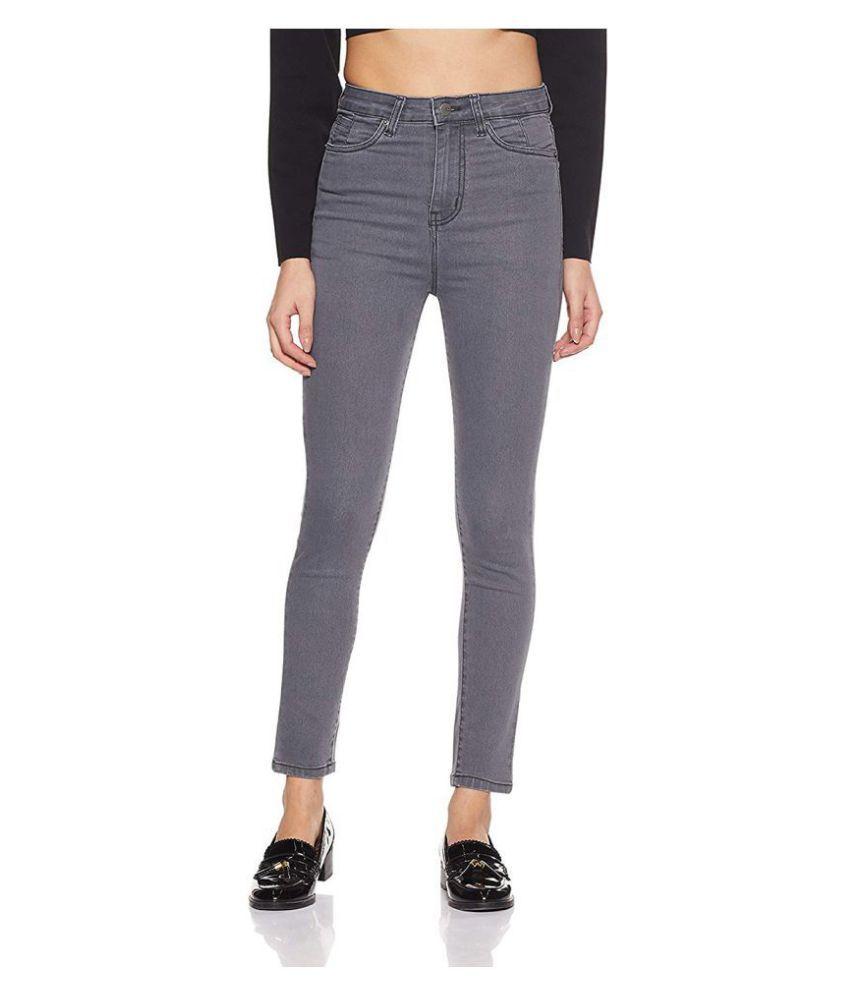 Ansh Fashion Wear Denim Lycra Jeans - Grey